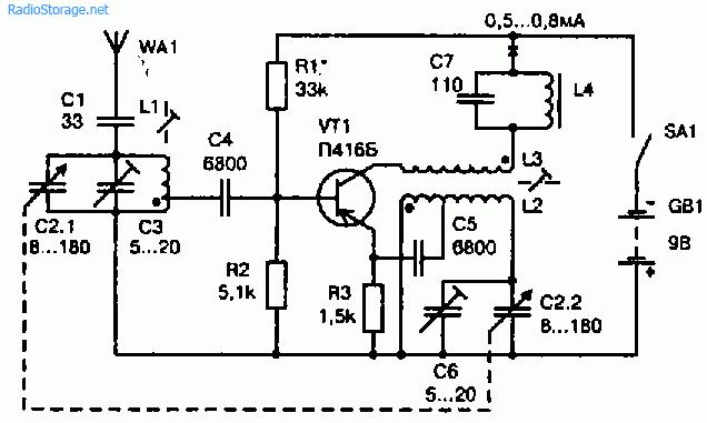 Схема коротковолнового