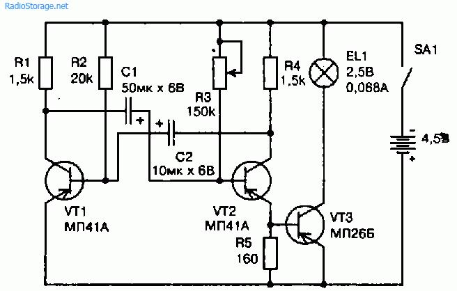 Схема в китайском фонарике