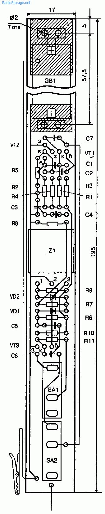 схема генератора-пробника
