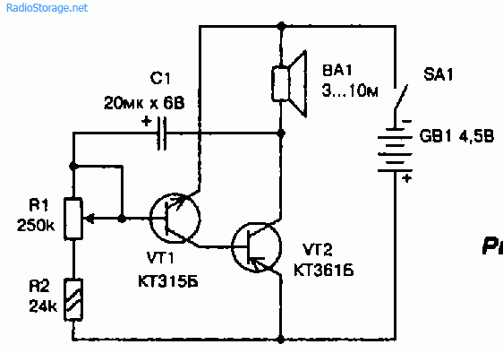 Схема электронного метронома