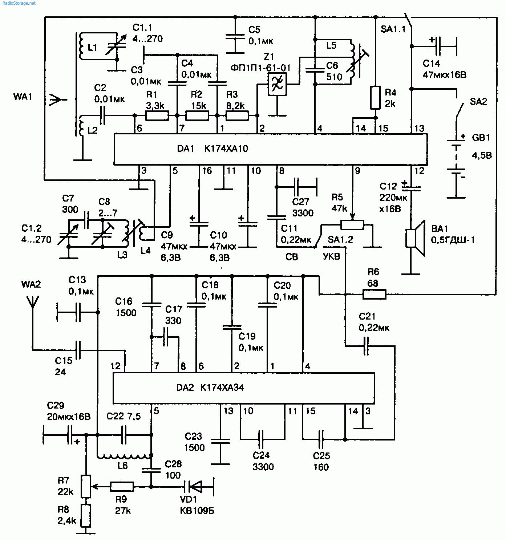 схема простого радио жучка без катушки
