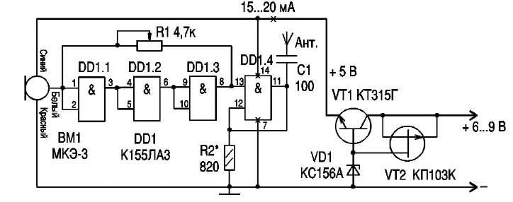 К155ЛА3 ( 66-76 МГц )