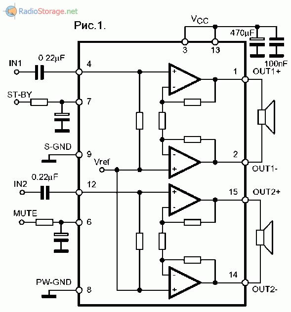 Микросхема tda6107q схема включения