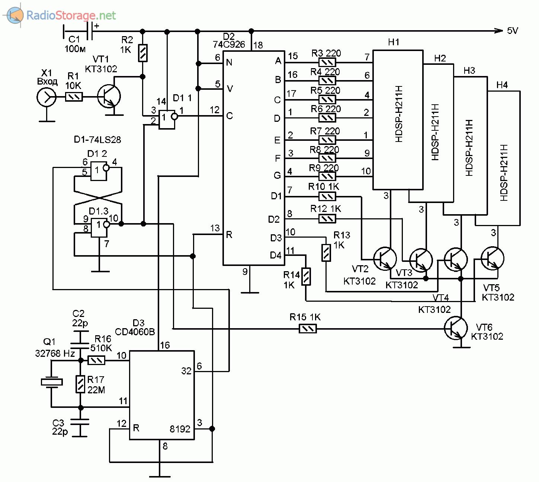 Схема частотомера на микросхемах к176 и жки фото 915