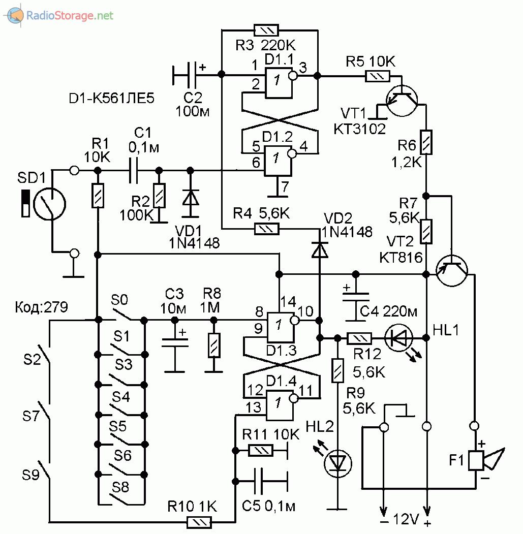 схема металлоискатель на микросхеме к561ле5