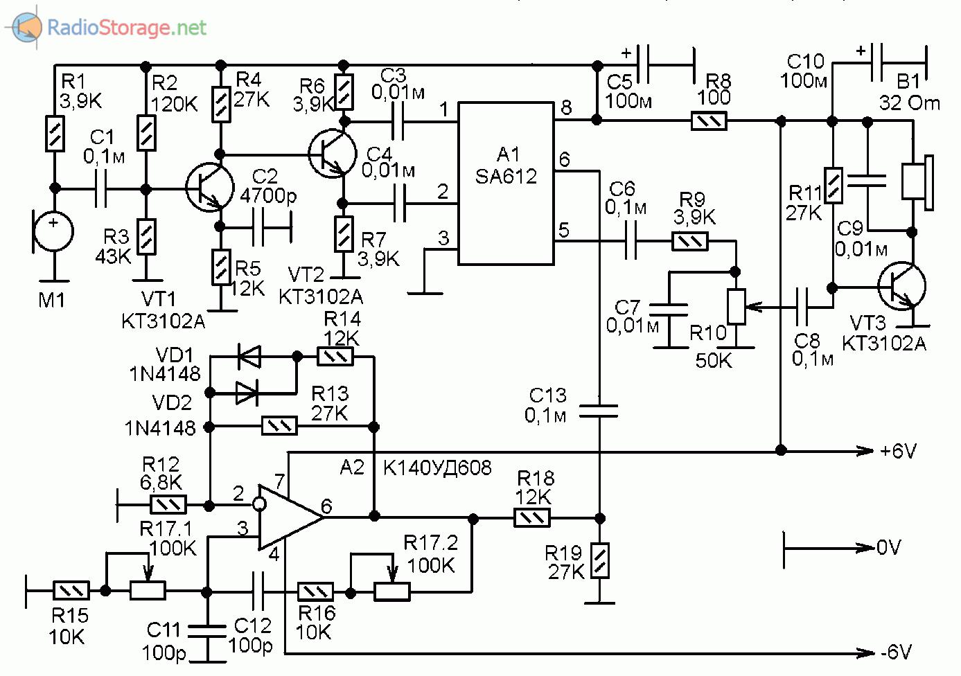 схема звуковых эффектов на микроконтроллёре