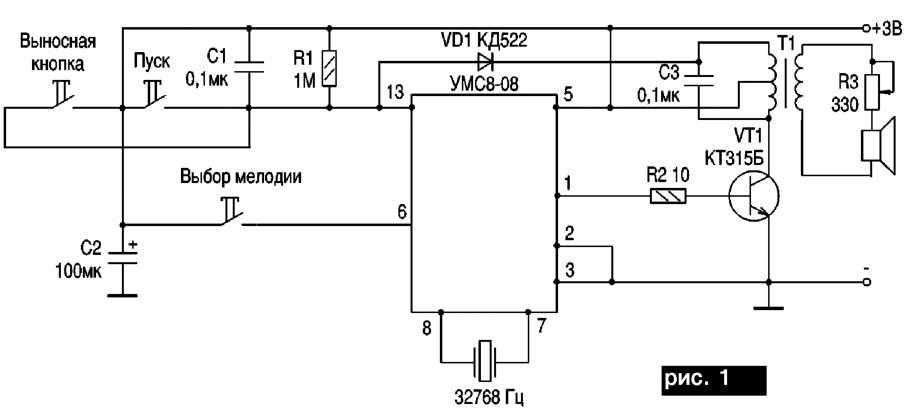 на микросхеме УМС8-08