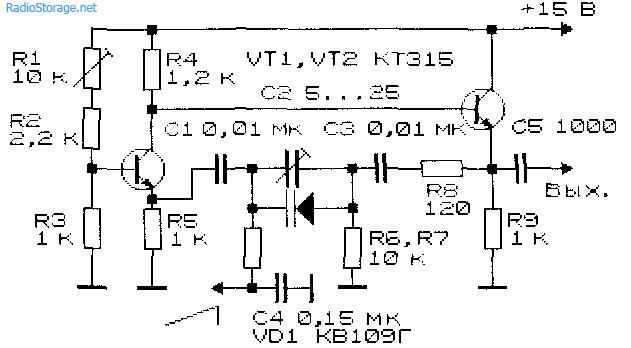 Управляемый генератор прямоугольных импульсов показан на рис. 6.6 Р 10/76-60.  Генератор также представляет собой...