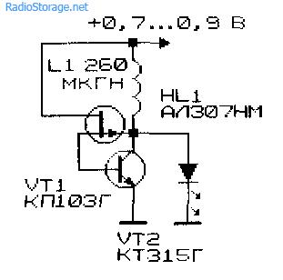 Низковольтный преобразователь напряжения с генератором на аналоге инжекционно-полевого транзистора
