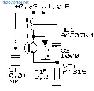 Низковольтный преобразователь напряжения с генератором выполненном на основе трехточки