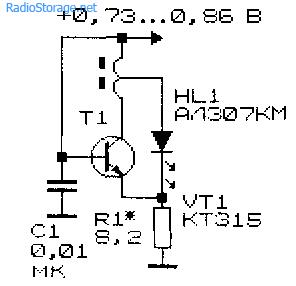 Очень простая схема низковольтного преобразователя напряжения на одном транзисторе
