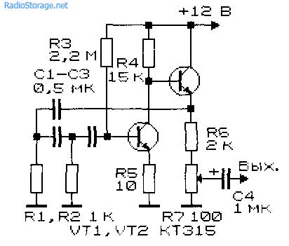 Схемы генераторов низкой