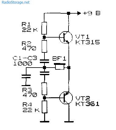 Генератор низкой частоты схемы электрические принципиальные схемы.