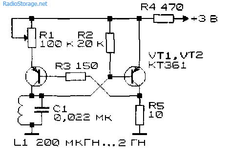 Схемы генераторов высокой частоты.