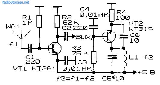 Схема конвертера с 88.