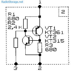 Схема базового элемента для самодельного многопозиционного коммутатора нагрузки