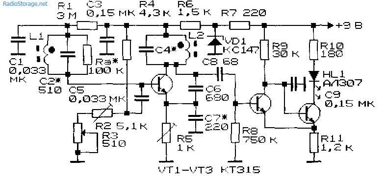 Схемы простейших металлоискателей (12) .