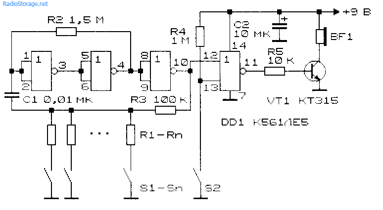 Схема электромузыкального