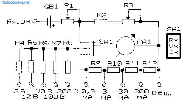Схемы простых многодиапазонных
