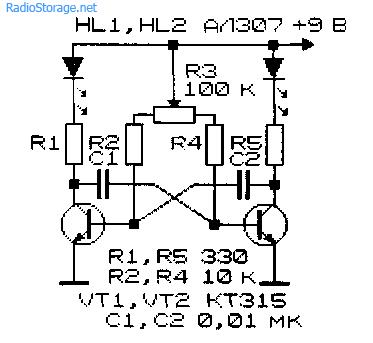 генератор прямоугольных импульсов на транзисторах