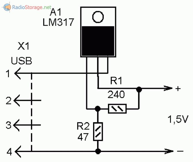 Микросхема стабилизатор напряжения 5 вольт схема