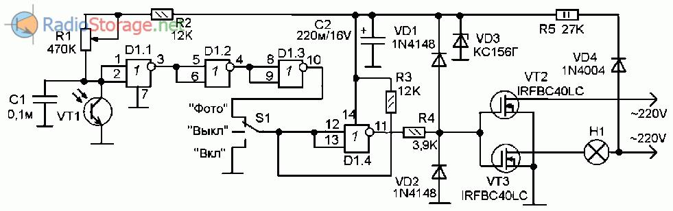 фотодатчик на транзисторе нарезаем сухофрукты