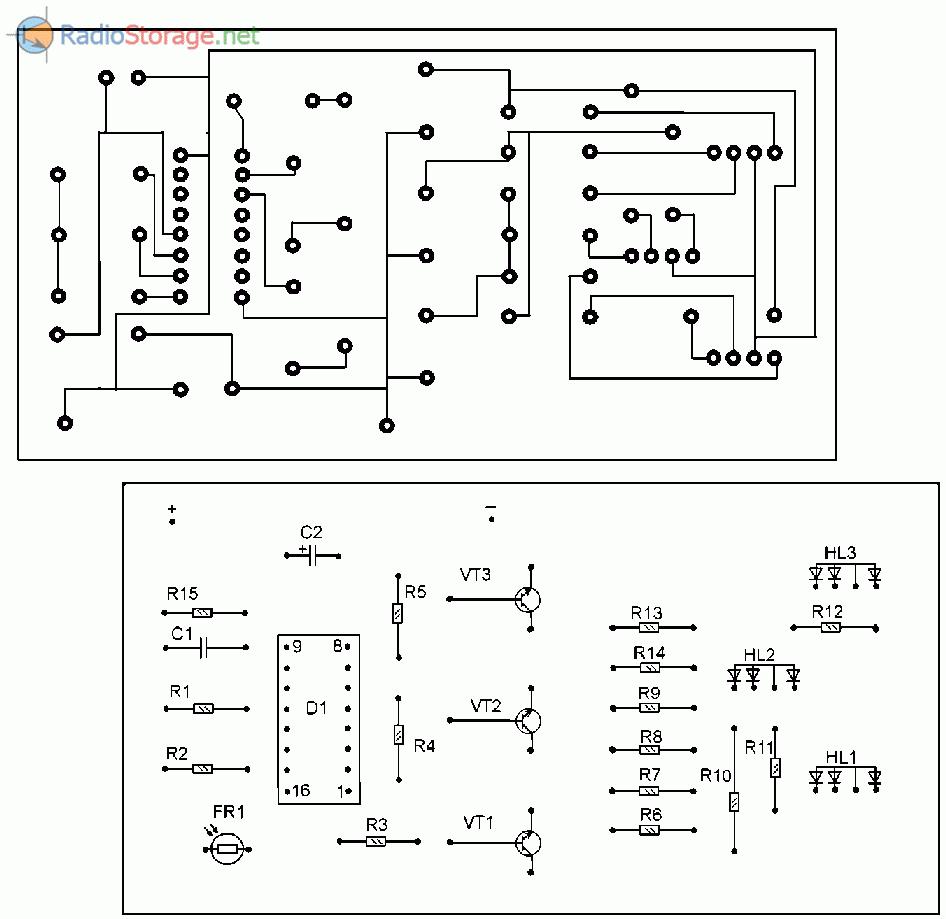Схемы для трехцветных светодиодов