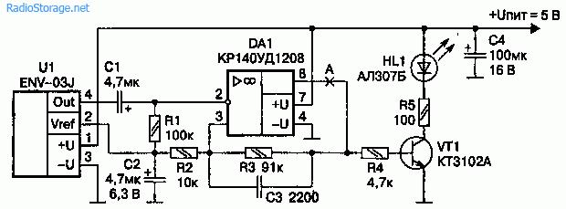 Электрическая схема гироскопа