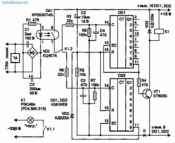 Схемы управления электронными устройствами по телефону.