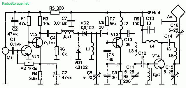 микрофона M1 типа МКЭ-3,