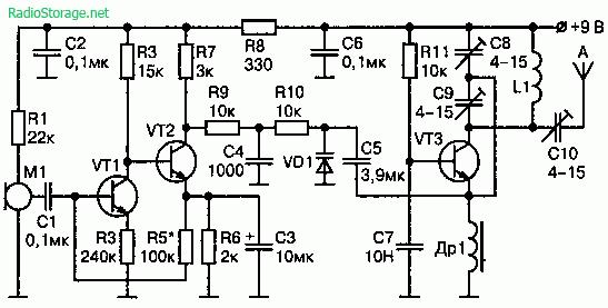 Схема мощного радиопередатчика