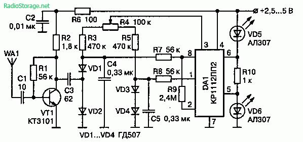 Схема простого детектора