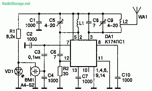 Радиомикрофон на микросхеме