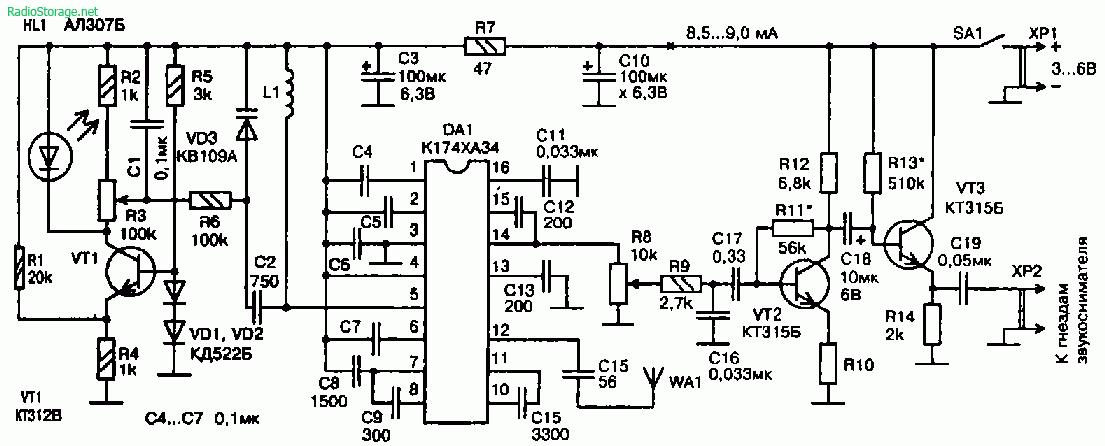 передача электронные схемы