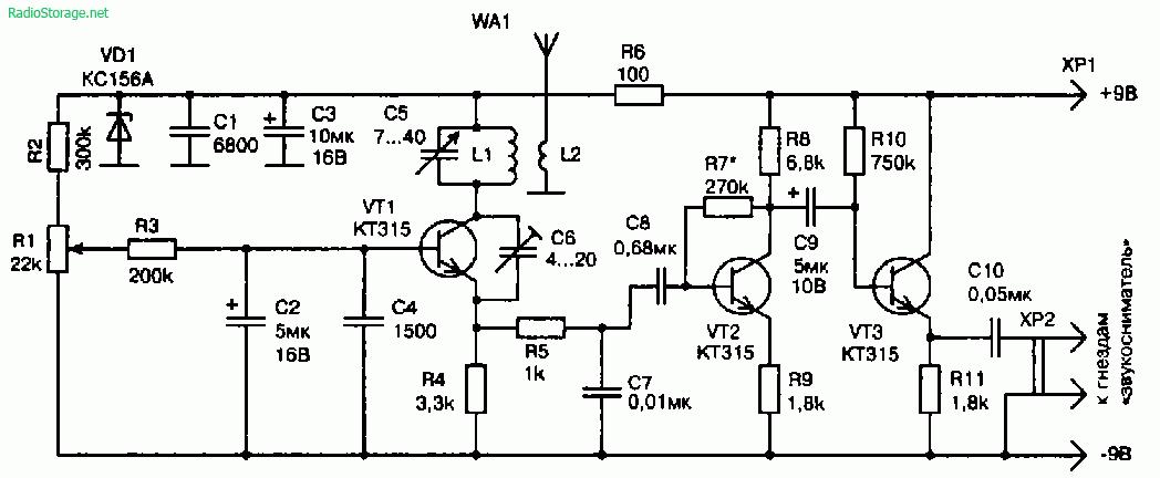 Схемы УКВ-тюнеров приставок к