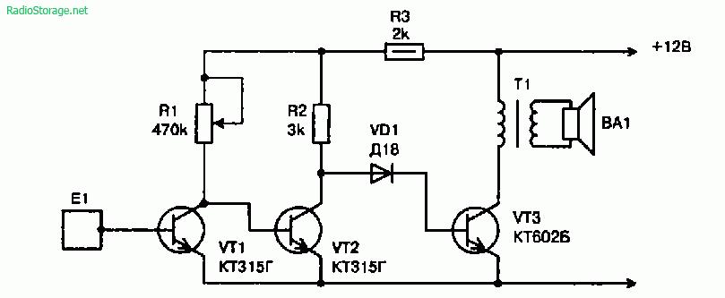 Схемы простых сенсорных