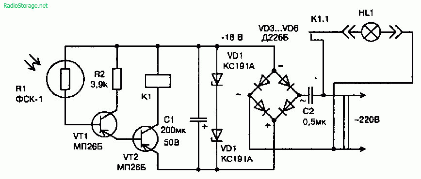 Схема простейших устройств