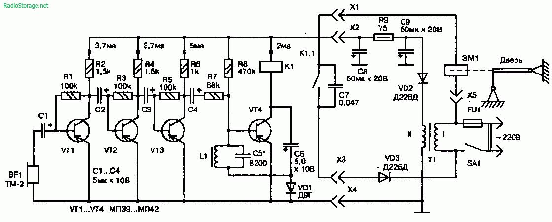 Принципиальная схема звукового