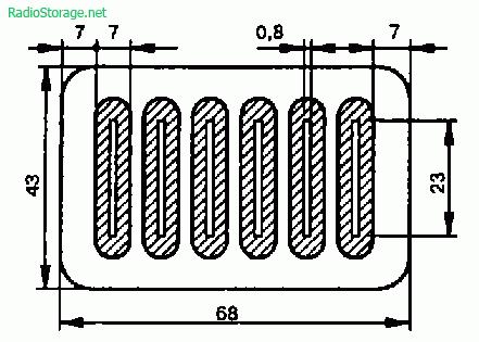 Печатная плата конденсатора С1 в контуре гетеродина высокочастотного звукоснимателя