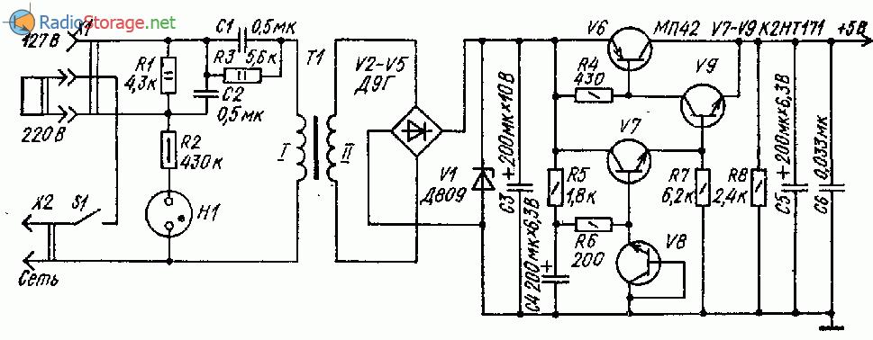 В качестве опорного источника использован эмиттерный переход транзистора V8. .