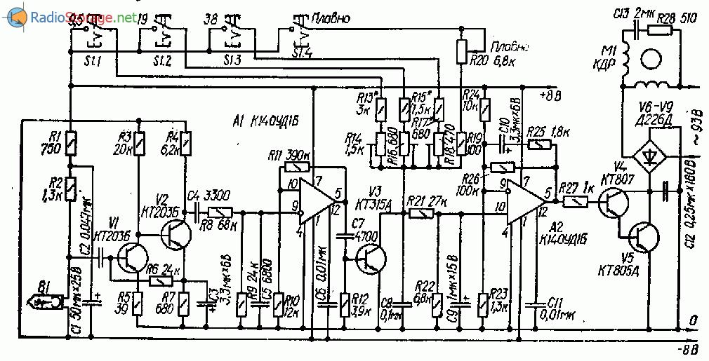 Схема магнитофон скорость двигателя Простой магнитофон Техника и Программы
