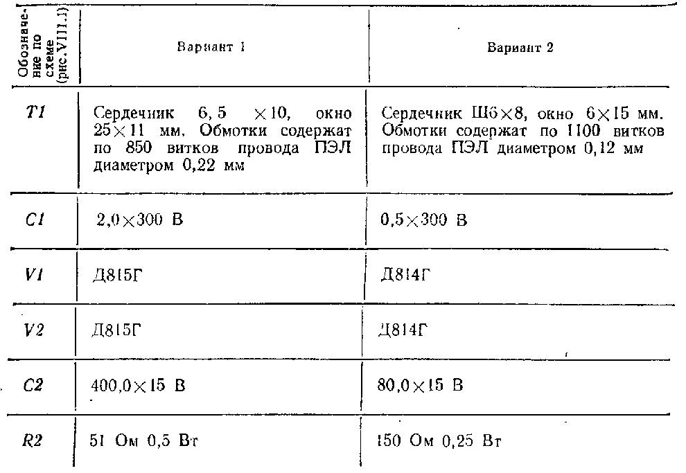 Маломощный источник питания (9В, 70мА) .