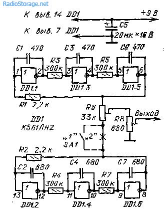 генератор на К561ЛН2