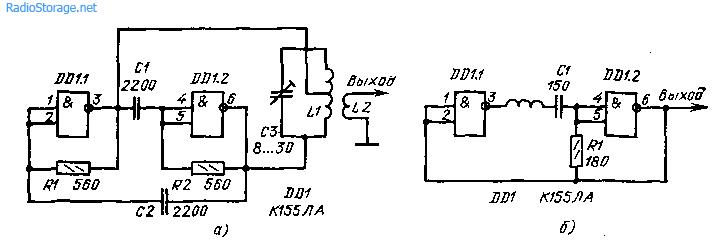 схемы LC-генераторов на