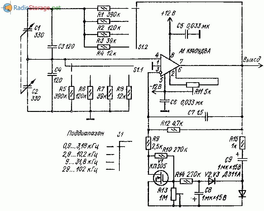 RC-генератор с емкостной