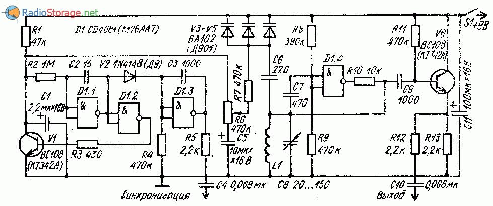 микросхеме К176ЛА7 (ГКЧ)