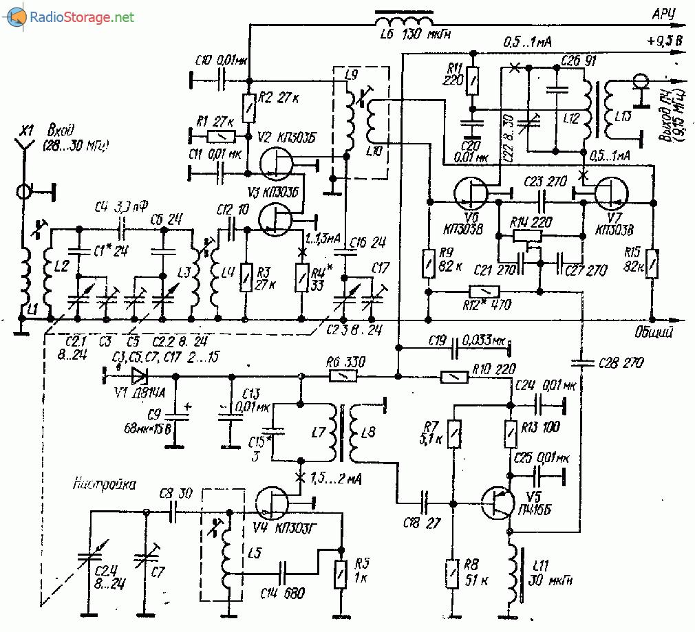 Схема радиостанций ssb