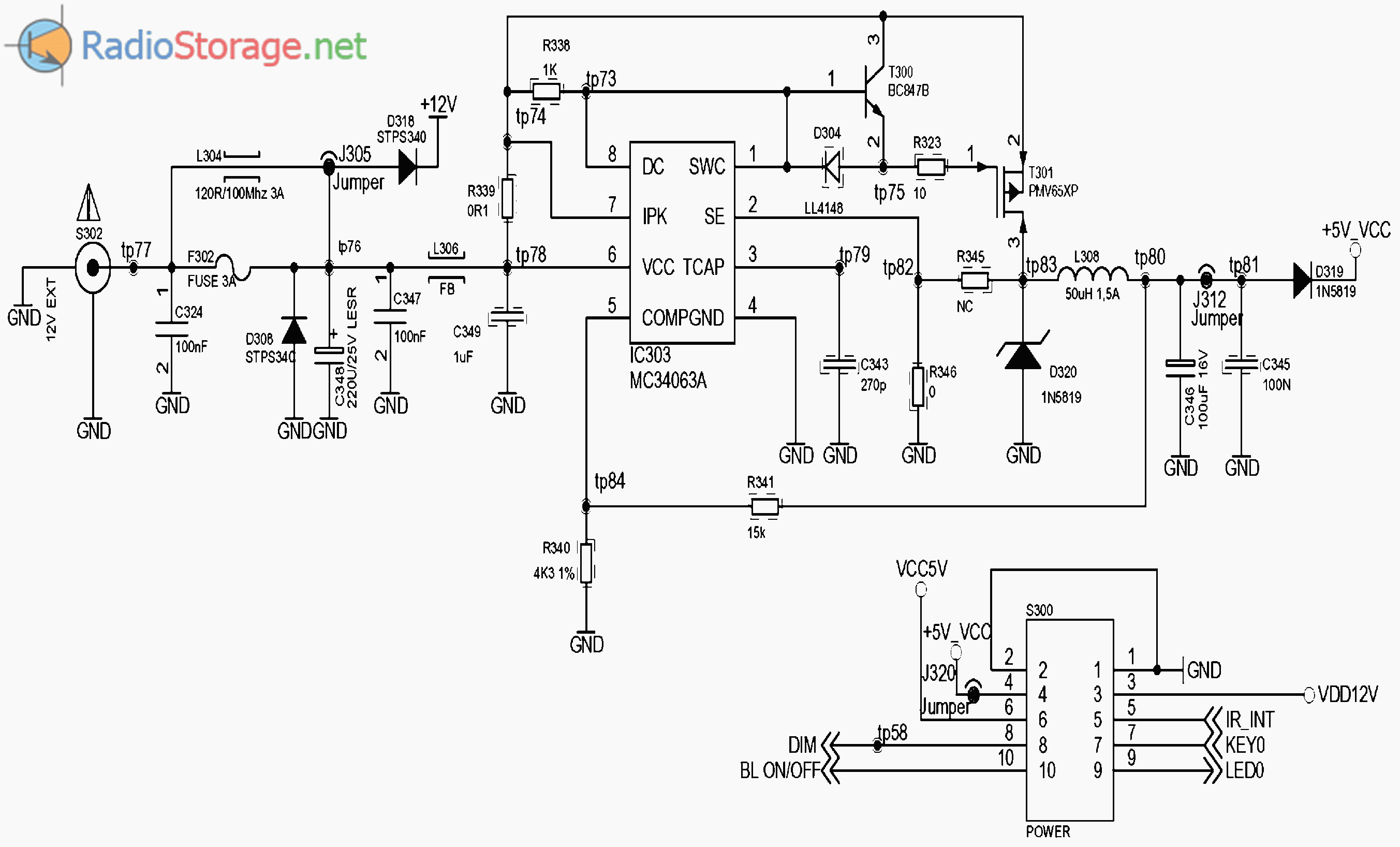 Схема 12в телевизора