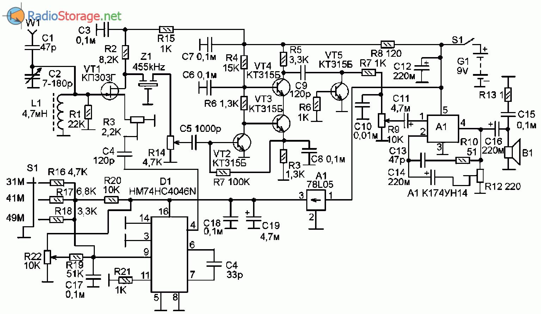 Схема радиоприемник с электронной настройкой