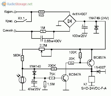 Простой датчик для выключения света в тамбуре на основе схемы ФР-601